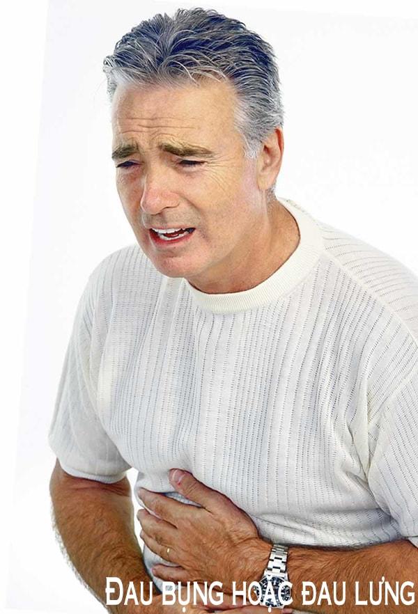 Đau bụng hoặc đau lưng