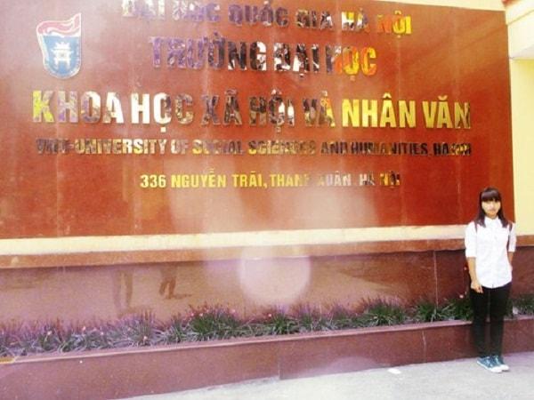 Sinh viên trường Đại học KHXH và Nhân văn
