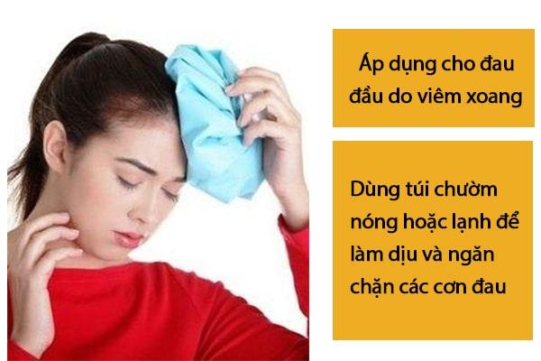 Chữa đau đầu bằng cách chườm nóng hoặc chườm lạnh