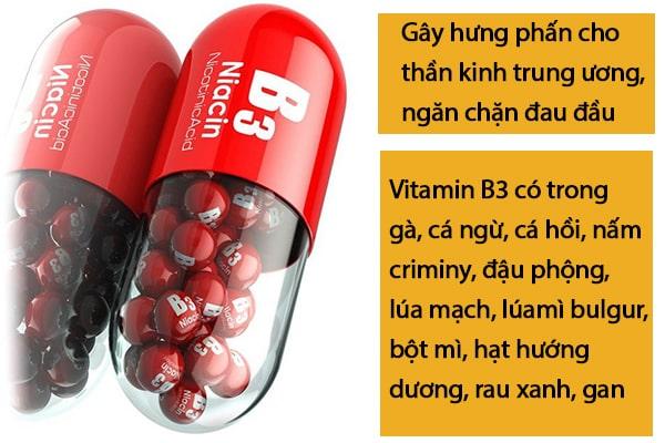 Phòng tránh đau đầu bằng việc bổ sung Vitamin B3