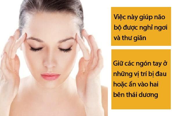 Day thái dương giúp giảm bớt cơn đau đầu