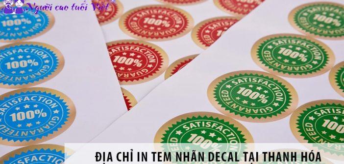 Địa chỉ in tem nhãn decal uy tín tại Nam Định