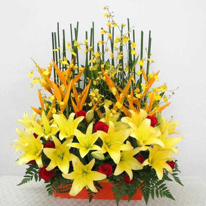 Tặng hoa Lily vào ngày mừng thọ ông bà