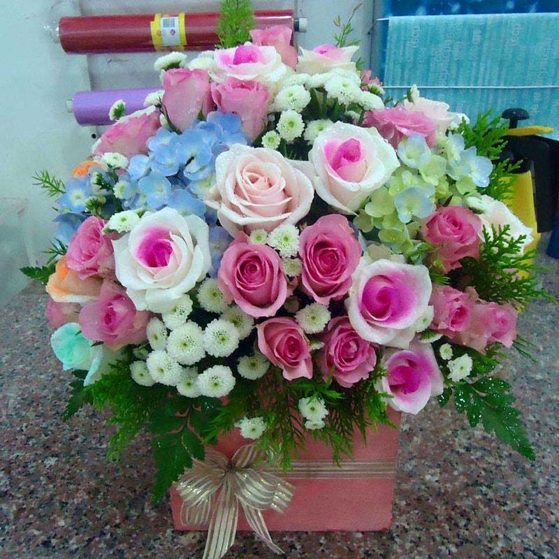 Tặng hoa hồng vào ngày mừng thọ ông bà